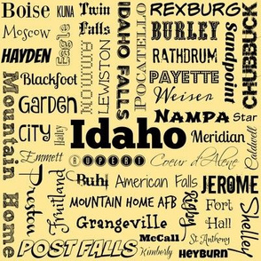 Idaho cities, yellow