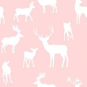 """6"""" Pink Silhouette Deer"""