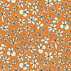 garland flowers orange