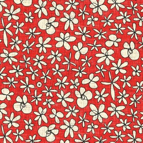 garland flowers red
