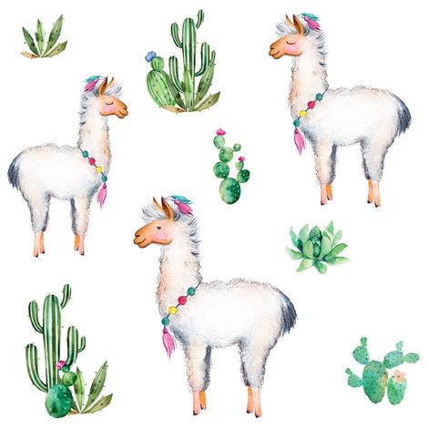 "8"" Aztec Llama fabric by shopcabin on Spoonflower - custom fabric"