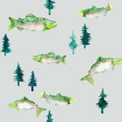 Pacific Northwest Salmon (Grey)
