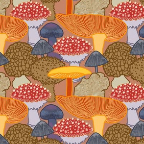 Mushroom Clusters (red)