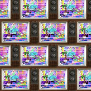 Vaporwave Dolphin TV