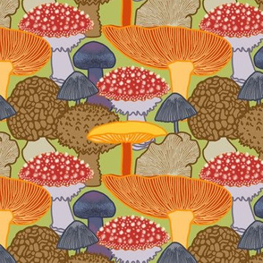 Mushroom Clusters (green)