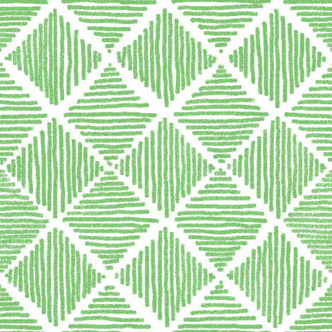 Flat out in bright green on white by Su_G fabric by su_g on Spoonflower - custom fabric