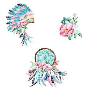 "8"" Aqua & Pink Boho Aztec MIX & MATCH"