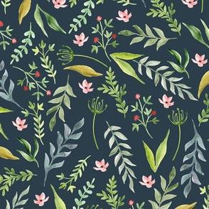 Leaf blue pattern