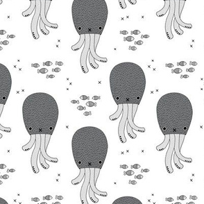 Magical under water world jelly fish octopus kids design gender neutral