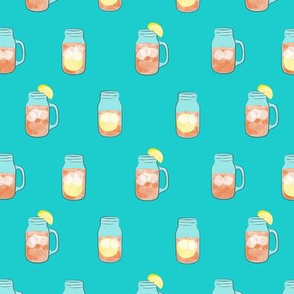 sweet tea - summer time drinks - mason jar fabric