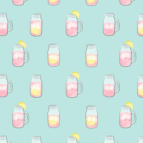 pink lemonade - summer time drinks v2 fabric by littlearrowdesign on Spoonflower - custom fabric