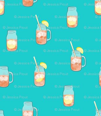 sweet tea w/ straws - summer time drinks
