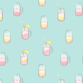 pink lemonade w/straws - summer time drinks v2