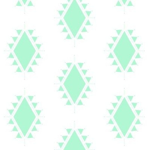 mint geometric aztec triangles