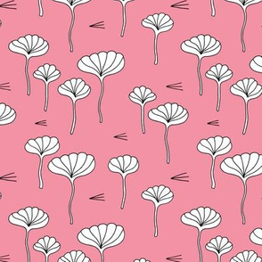 Japanese lotus flower garden sweet minimal botanical japan designs pink