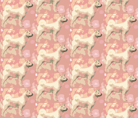 Pastel Akita fabric by dogdaze_ on Spoonflower - custom fabric