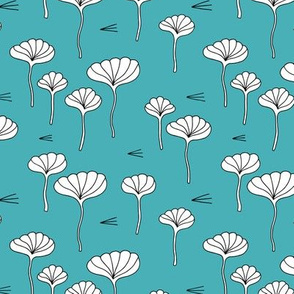 Japanese lotus flower garden sweet minimal botanical japan designs blue