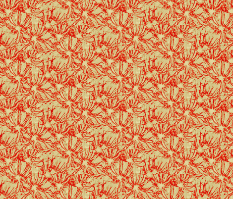red blossoms fabric by twigsandblossoms on Spoonflower - custom fabric