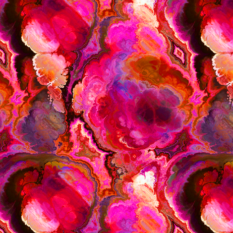 FANTASTIC FLOWERS MARBLE RED FUCHSIA 1 fabric by paysmage on Spoonflower - custom fabric