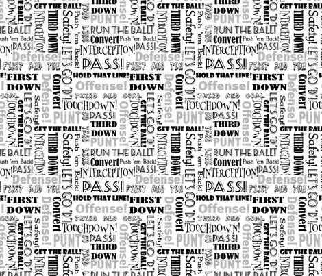 Football Words fabric by pamelachi on Spoonflower - custom fabric