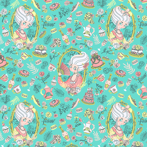 Let them eat cake fabric by nuk on Spoonflower - custom fabric