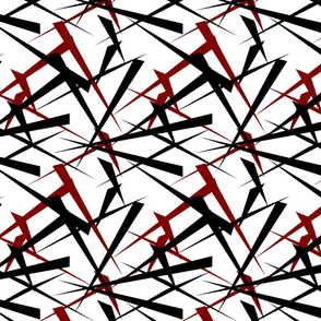 Abstract triangles red and black