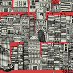 dystopian toile red