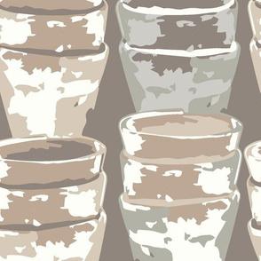 Stacked Garden Pots