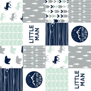 Little Man Adventure Wholecloth  || Northern lights patchwork (90)