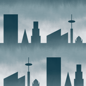 06464242 : stormy city skyline