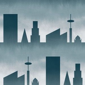 06464242 : city : stormy skyline