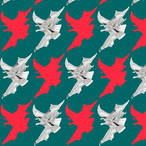 80s Jagged Illustrated Pattern
