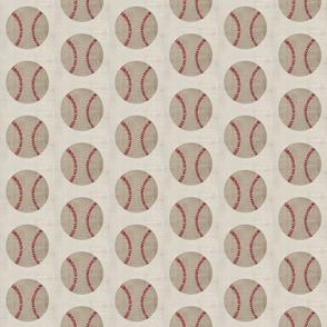 baseball vintage washed cream - MED3
