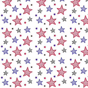 Red White and Blue Stars with Stripes