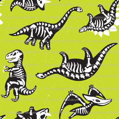 Lime Green Dinos