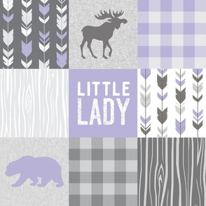 Little Lady Quilt - Lavender and Grey