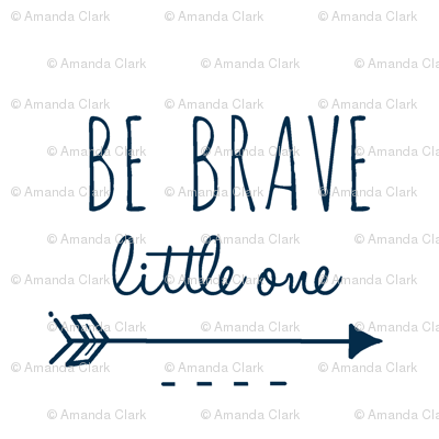 Be Brave Little One - Navy