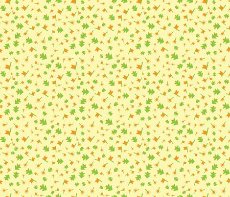 Baby yellow pattern fabric graphicsdish spoonflower for Yellow baby fabric