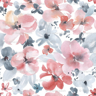 Watercolor Light Flowers
