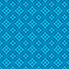 small tribal diamonds - turquoise
