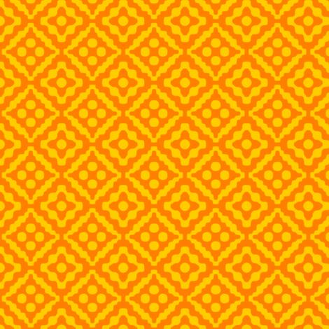small tribal diamonds - saffron orange and yellow fabric by weavingmajor on Spoonflower - custom fabric