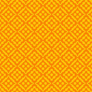small tribal diamonds - saffron orange and yellow
