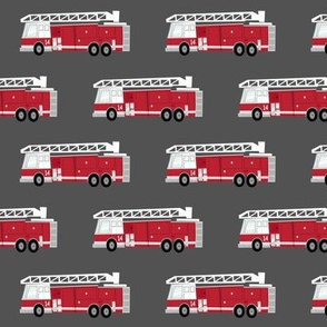 fire trucks - dark red