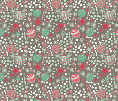 #SAGE Christmas - Baubles fabric by floramoon on Spoonflower - custom fabric