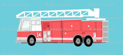 fire truck on blue