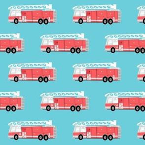fire truck on blue