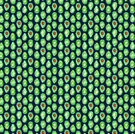 (micro print) avocado on navy fabric by littlearrowdesign on Spoonflower - custom fabric