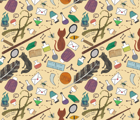 Magical Journaler Lining fabric by chickenboots on Spoonflower - custom fabric