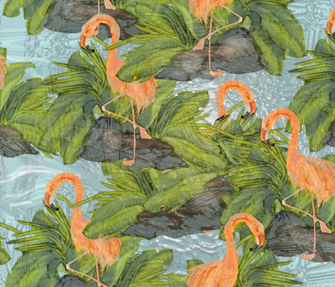 Flamingo Galore fabric by almalee on Spoonflower - custom fabric