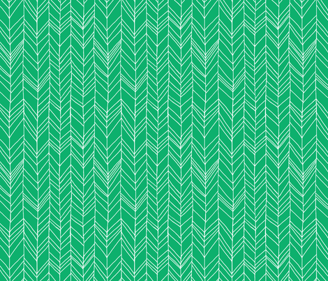 featherland Green/White fabric by leanne on Spoonflower - custom fabric